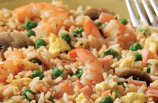 Shrimp Fried Rice with ham