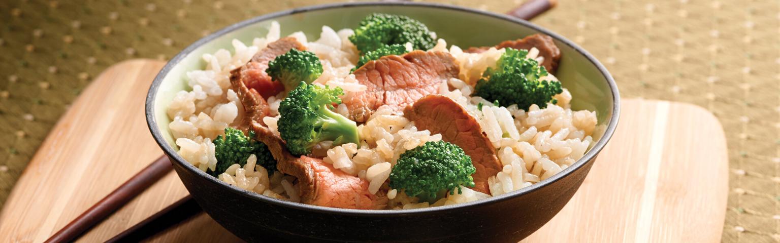 Teriyaki Beef and Broccoli with Jasmine Rice