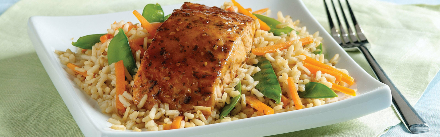 Teriyaki Salmon and Rice Packets