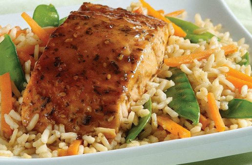 Teriyaki Salmon and Rice Packets