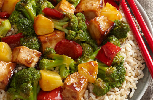 Teriyaki Tofu and Vegetable Stir Fry