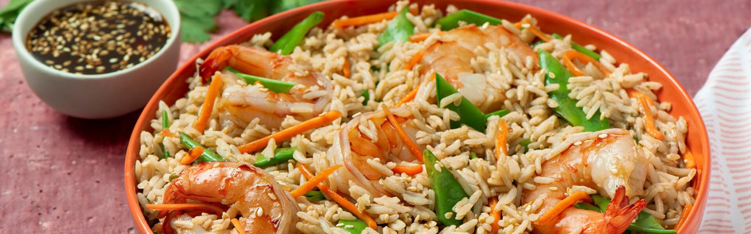 Asian Shrimp and Rice Salad