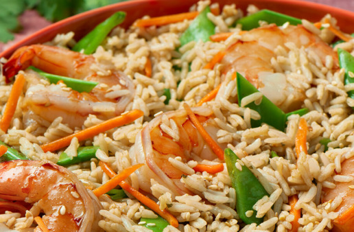 Asian Shrimp and Rice Salad