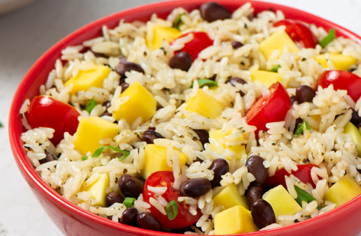 Black Beans and Rice Mango Salad