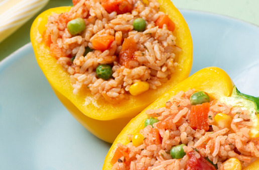 Easy Italian Rice Stuffed Peppers