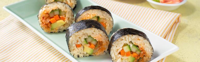 Kimchi Vegetable Sushi