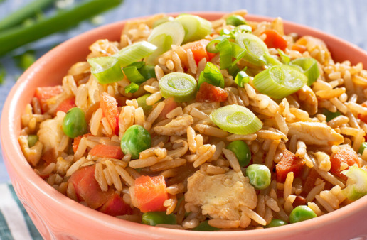 Bowl of Microwave Fried Rice