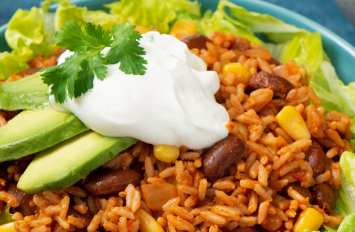 Rice and Beans Burrito Bowl