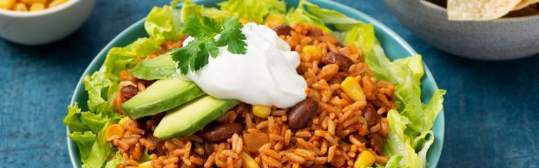 Rice and Beans Burrito Bowl