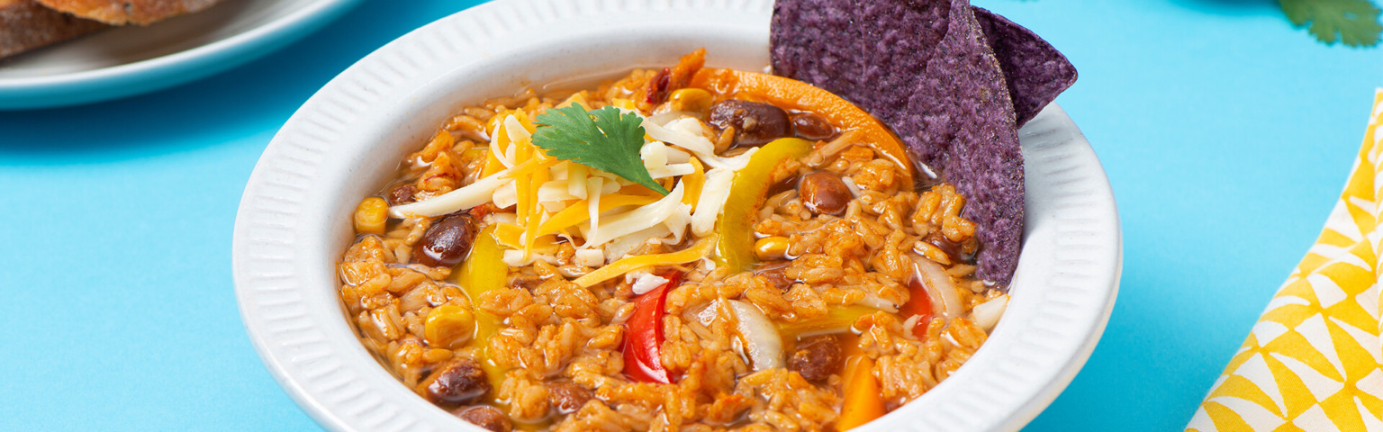 Southwest Pinto Beans and Rice Soup