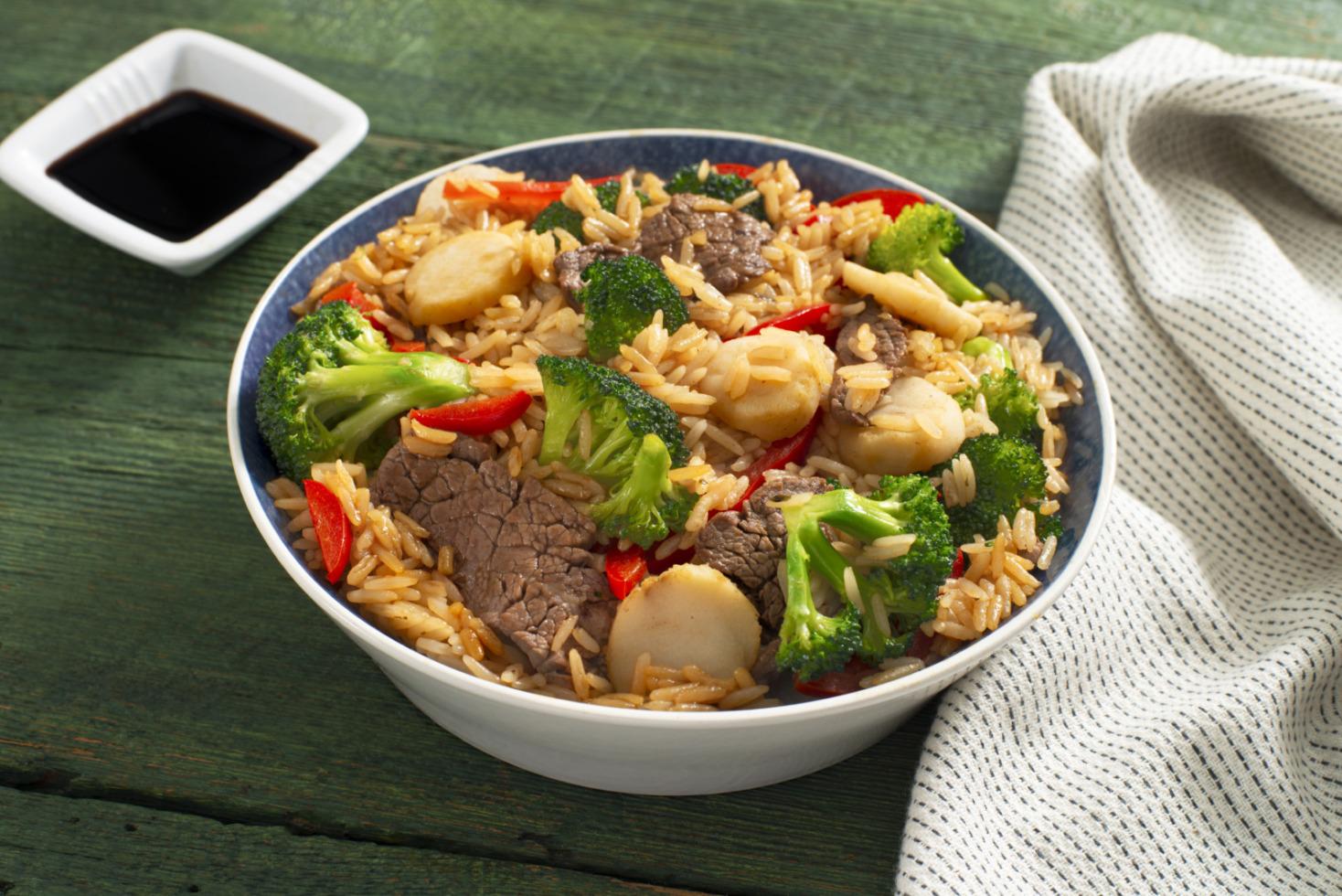 Beef and Broccoli Garlic Rice