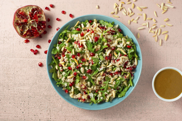 Pomegranate and Arugula Rice Salad