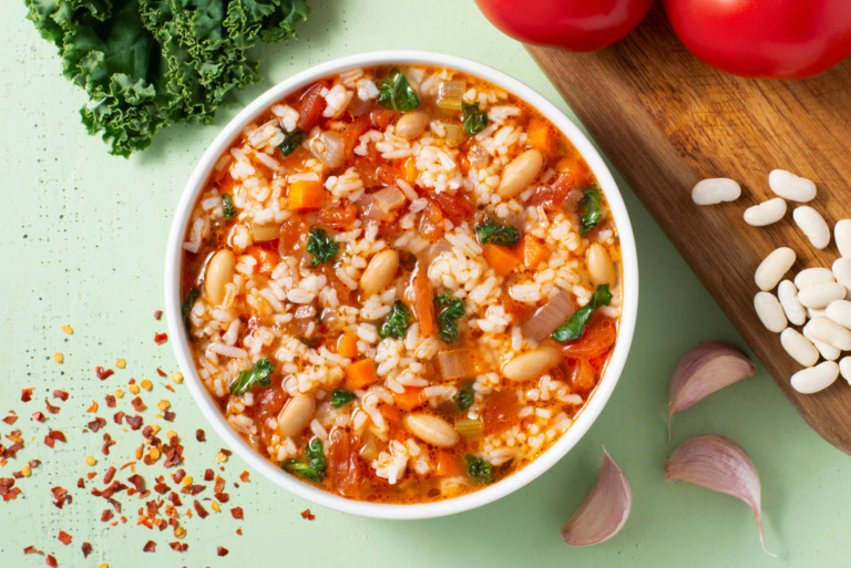 Hearty Rice Minestrone Soup