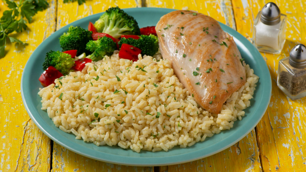 15 Minute Chicken and Rice Dinner