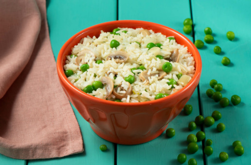 15 Minute Savory Rice Pilaf with vegetables