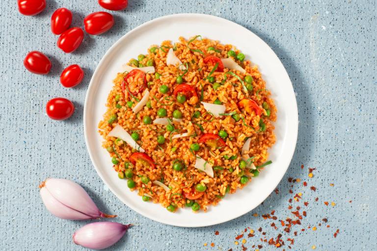 Pea and Sun-Dried Tomato Pesto Rice