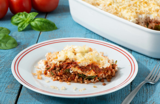 Brown Rice & Lentils Lasagna Casserole