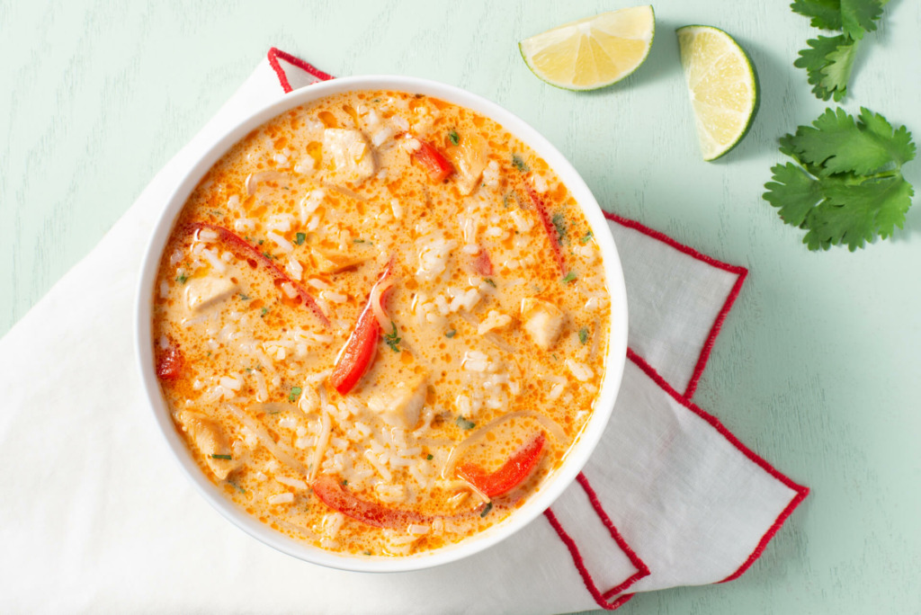 Creamy Thai Soup with lime