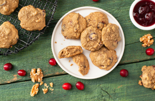 Jasmine Rice and Cranberry Cookies