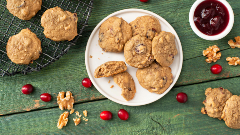 Jasmine Rice and Dried Cranberry Cookies