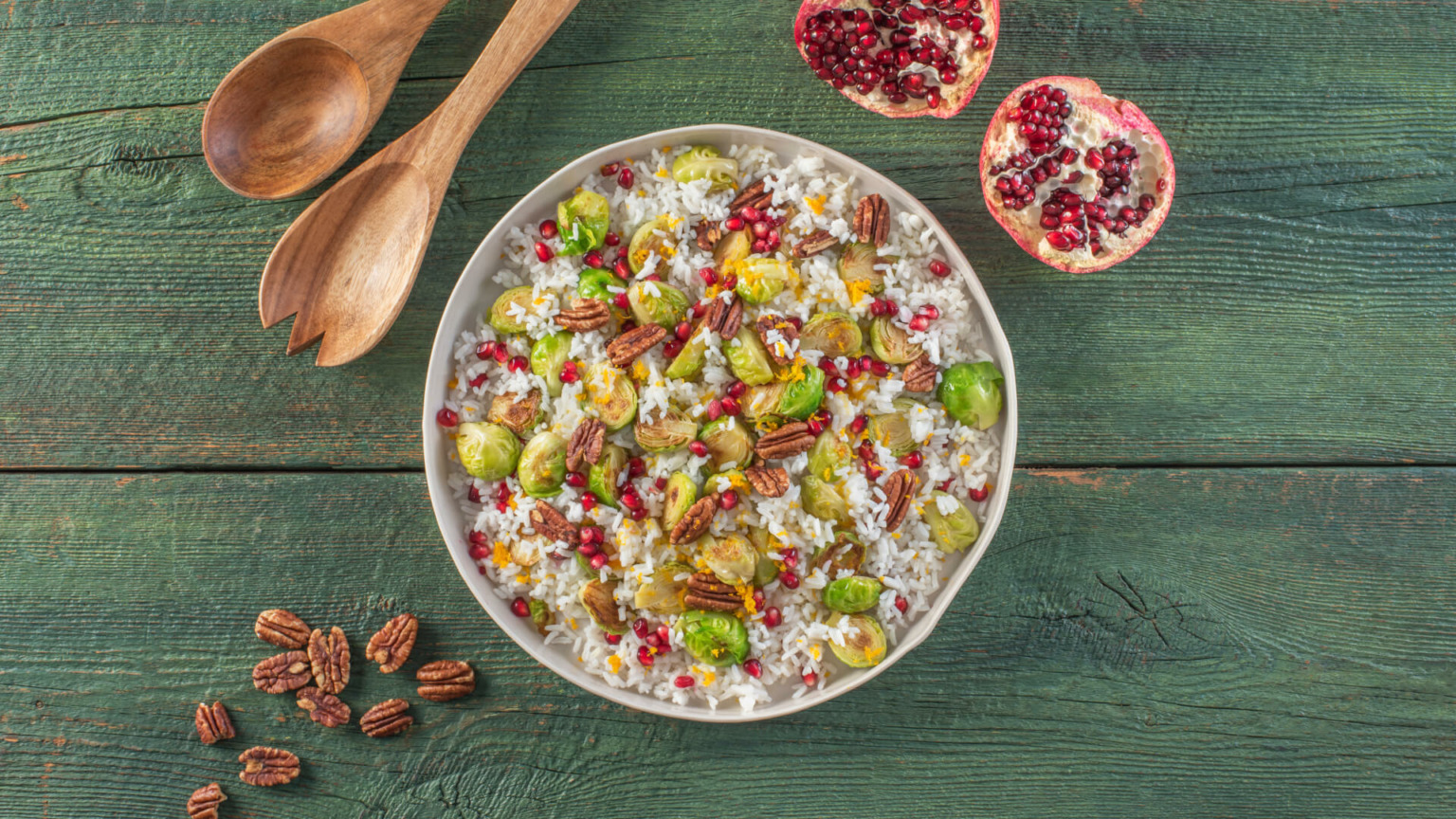 Roasted Brussels Sprouts and Rice