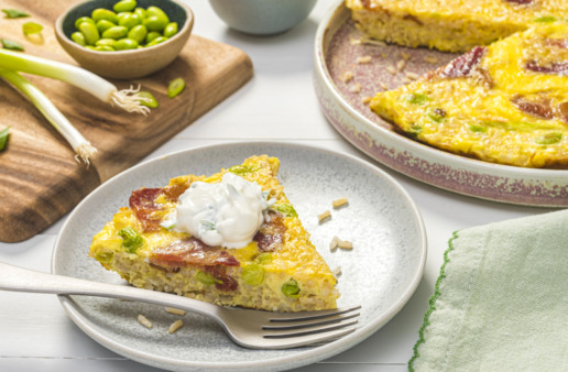 brown-rice-frittata-with-bacon-and-edamame