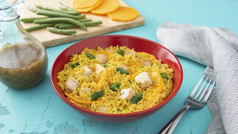Quick Chicken, Rice and Veggies