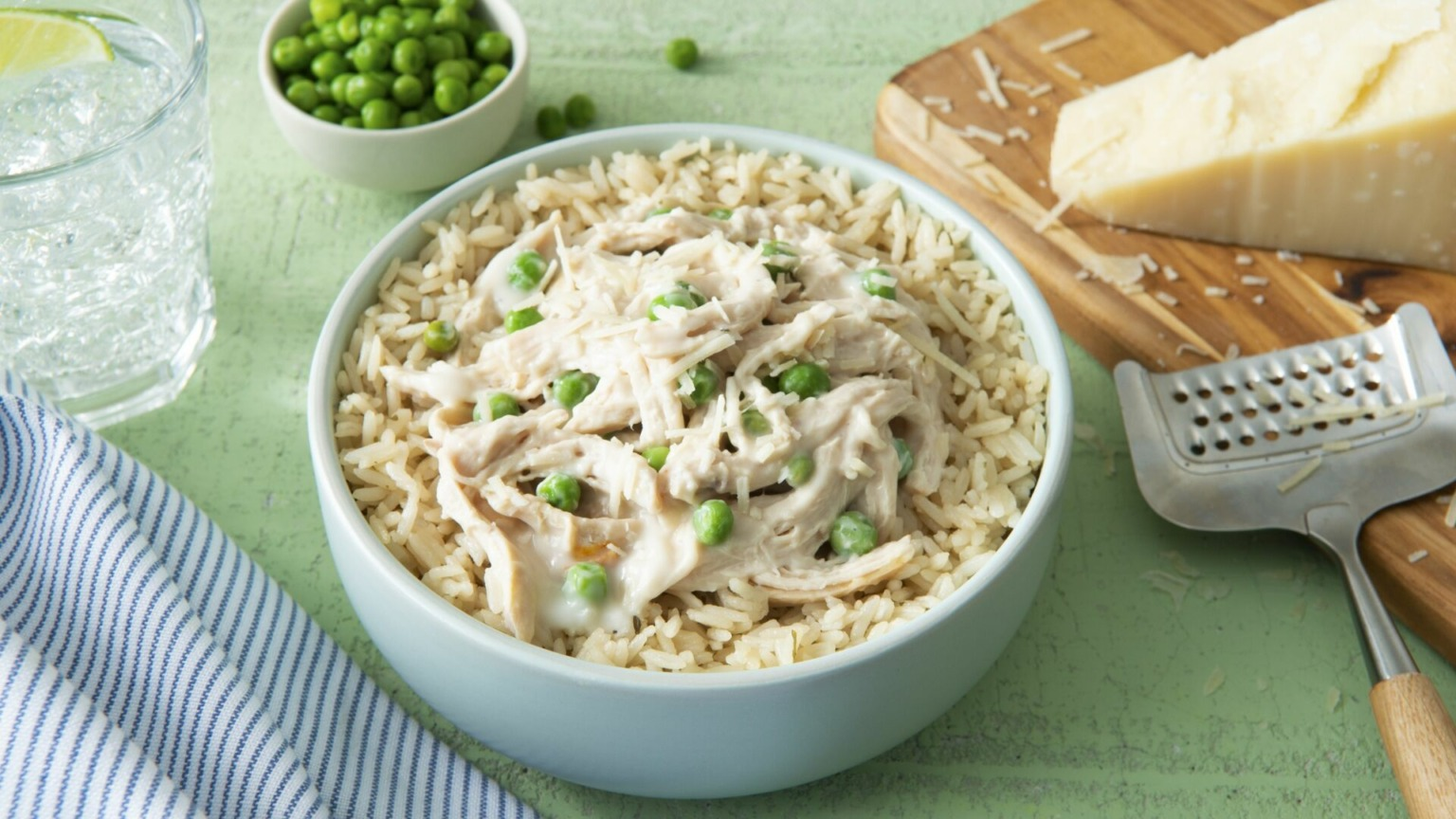 5-Minute Alfredo Chicken and Rice