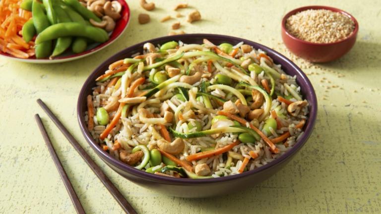 Zucchini Noodle Rice Bowl