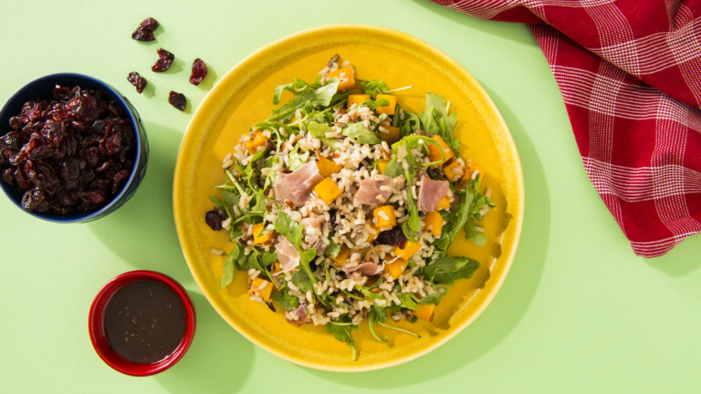 Arugula, Rice and Quinoa Thanksgiving Salad
