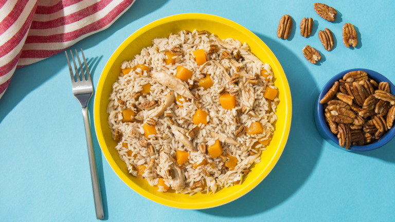 Butternut Squash and Chicken Rice