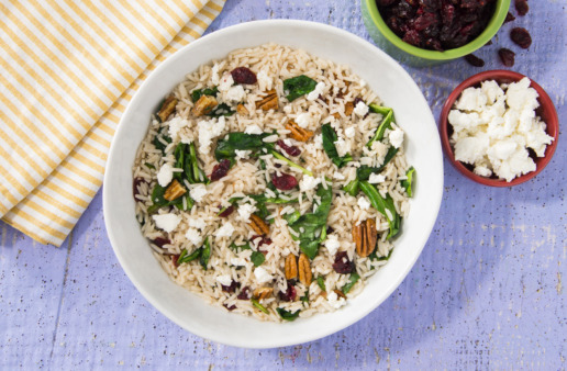 Holiday Rice Salad with pecans