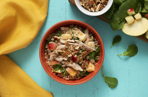 brown-rice-salad-with-turkey-apples-and-cranberry-dressing