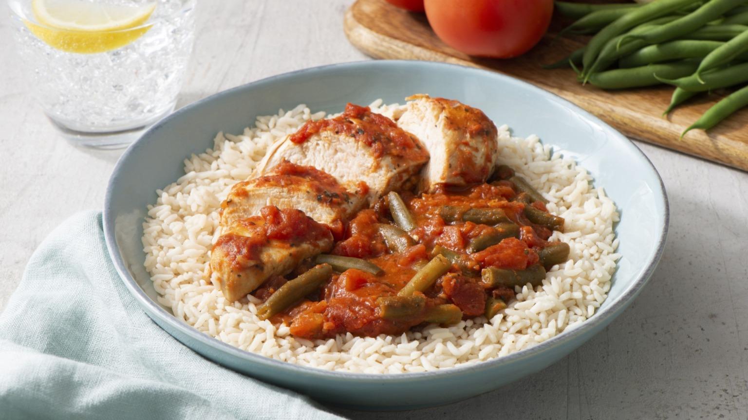 15 Minute Mediterranean-Style Chicken and Rice