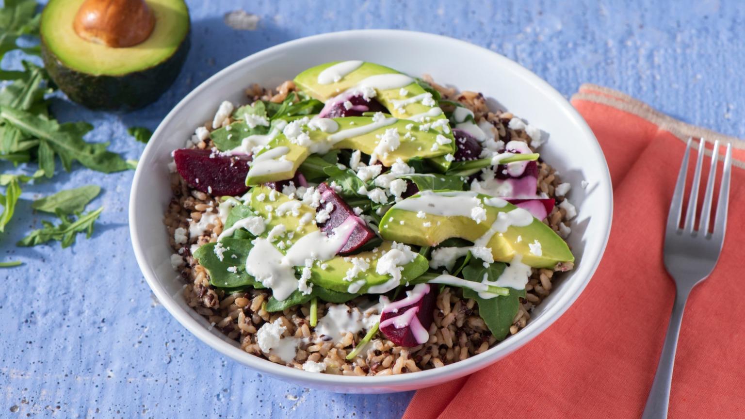 Beet and Multi-Grain Salad