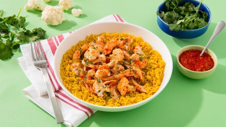 Harissa Chicken and Cauliflower Rice