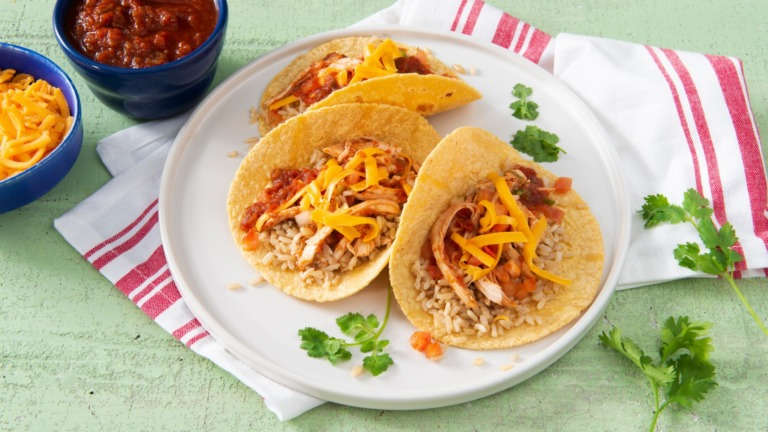 Quick and Easy Chicken Soft Tacos