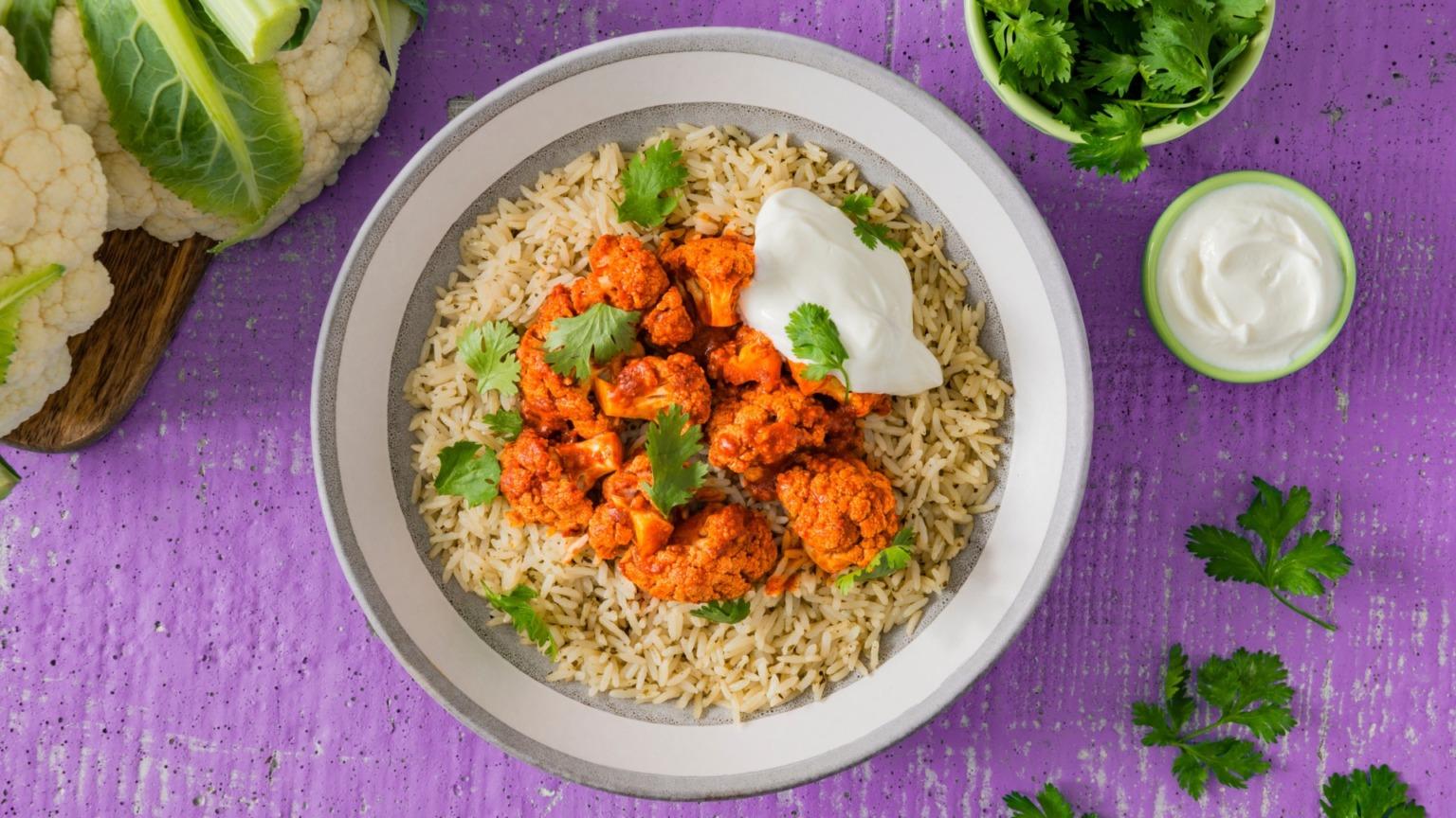 Tandoori Cauliflower and Rice Bowl