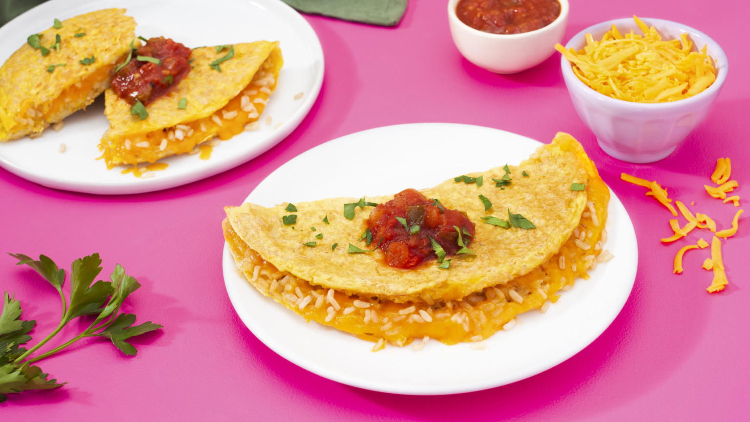 Easy Cheesy Rice Omelet