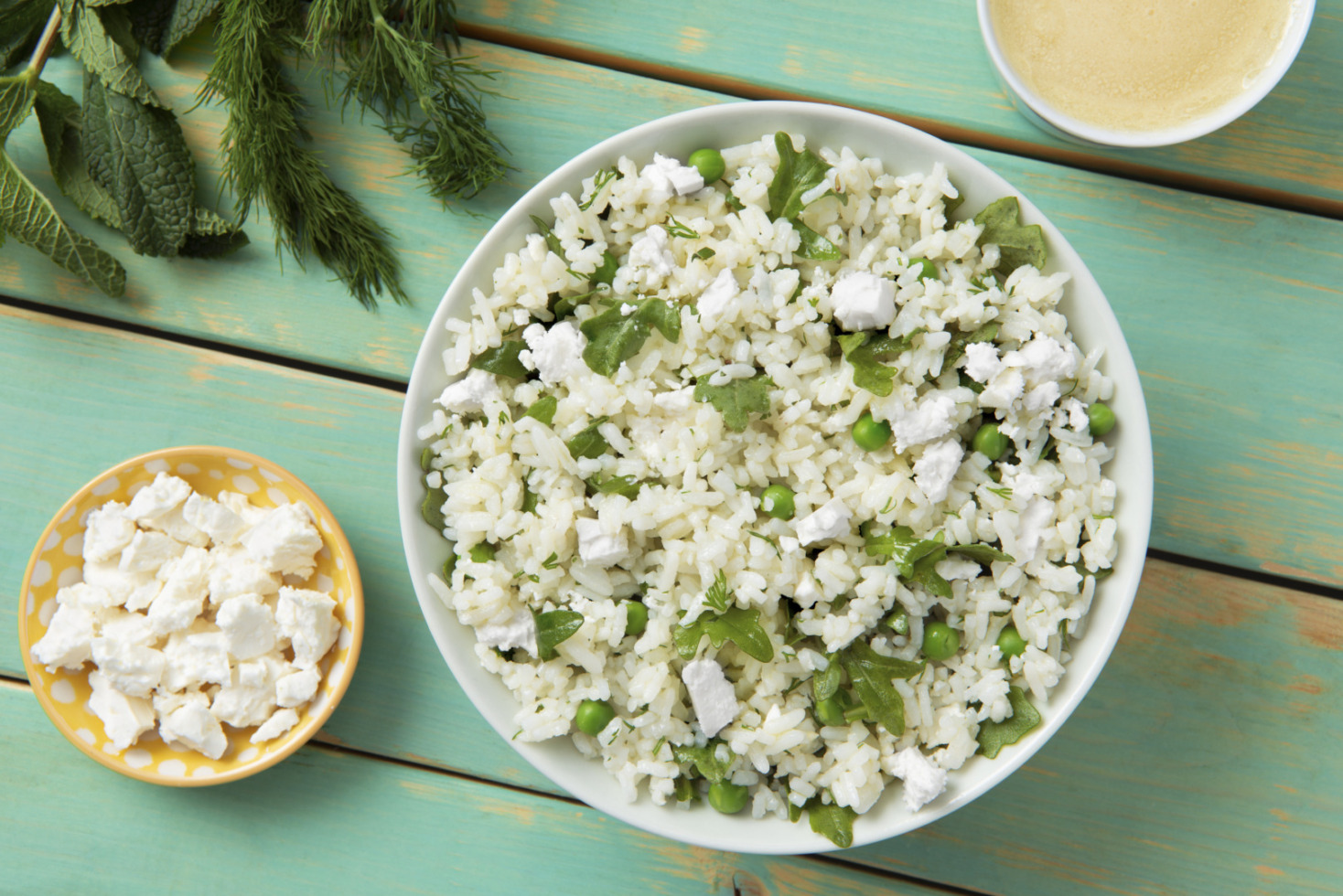 Mint and Feta Rice Salad