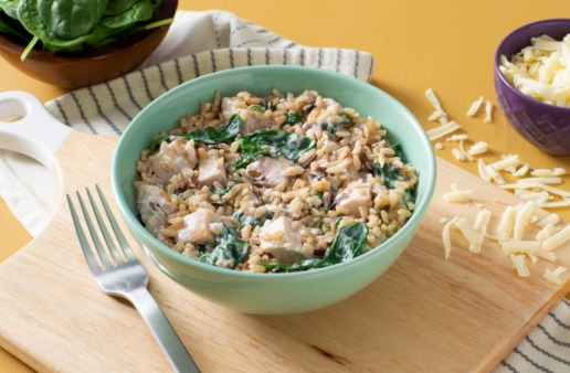 turkey-and-rice-florentine-with-spinach-brown-rice-wild-rice-and-mozzarella-cheese