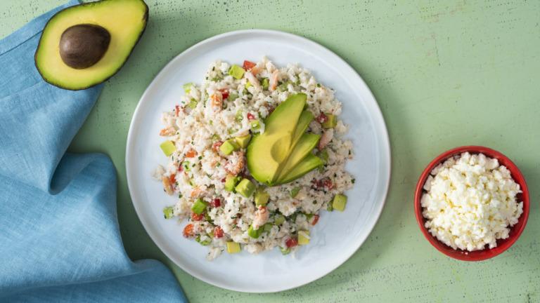 Creamy Avocado, Crab and Rice Salad