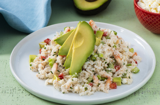creamy-rice-salad-with-avocado-and-crab-meat