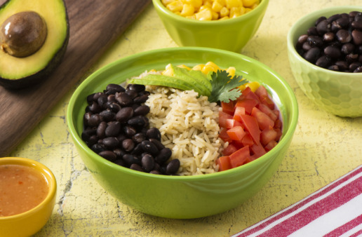 vegetarian-mexican-cobb-salad-with-jasmine-rice-black-beans-avocado-and-tomatoes
