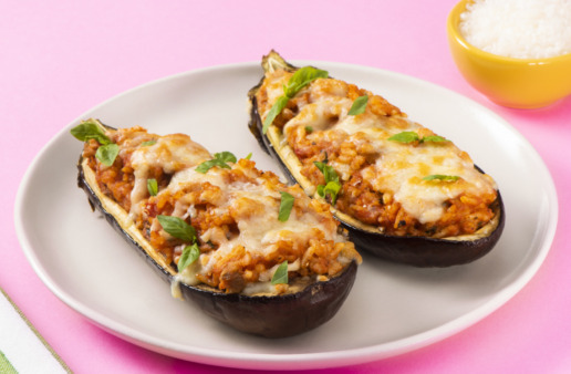 stuffed-eggplant-parmesan-with-jasmine-rice-topped-with-mozzarella-cheese-and-jasmine-rice