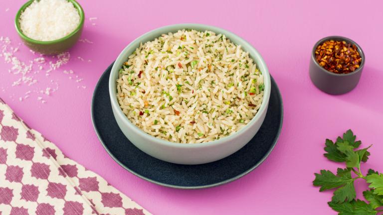 Garlic Parmesan Rice Bowl