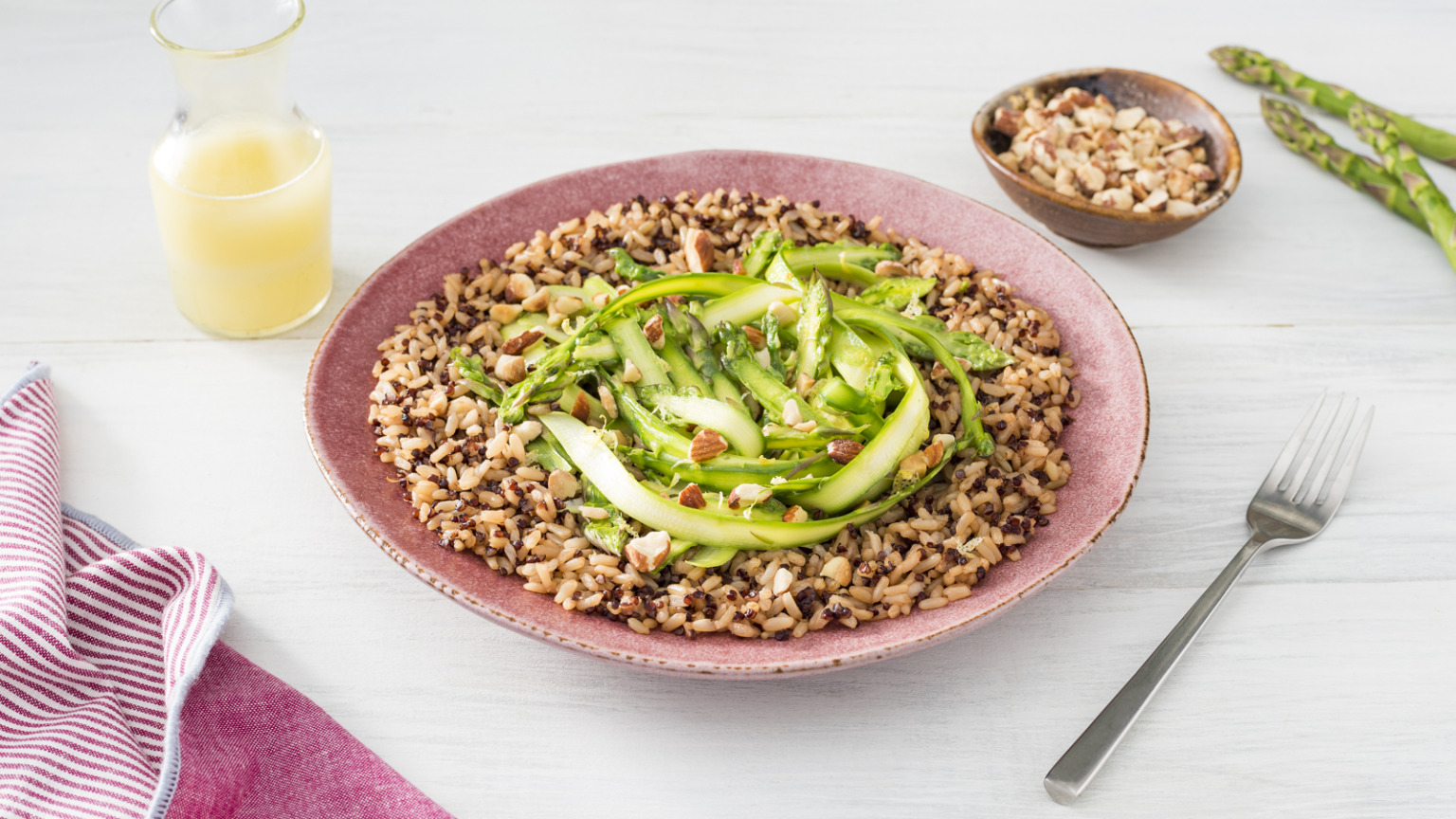 Asparagus Lemon Whole Grain Bowl