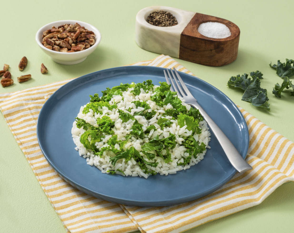Garlic-Butter Kale Rice