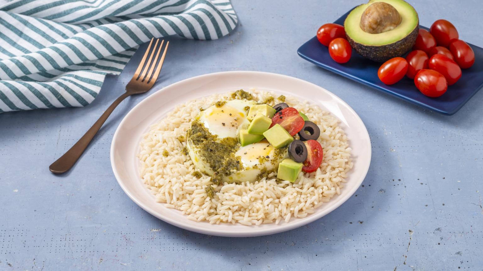 Pesto Egg Rice
