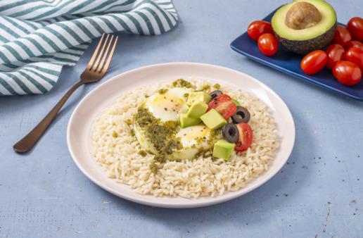 Pesto-Egg-Rice-with-avocado
